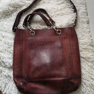 Mo851 leather Tote/crossbody bag